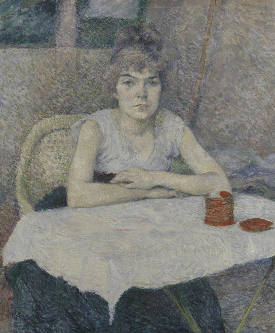 a research on the life and paintings of toulouse lautrec La rousse in a white blouse - toulouse-lautrec,  as in other paintings featuring the same sitter, lautrec  and academic or research publications of which.
