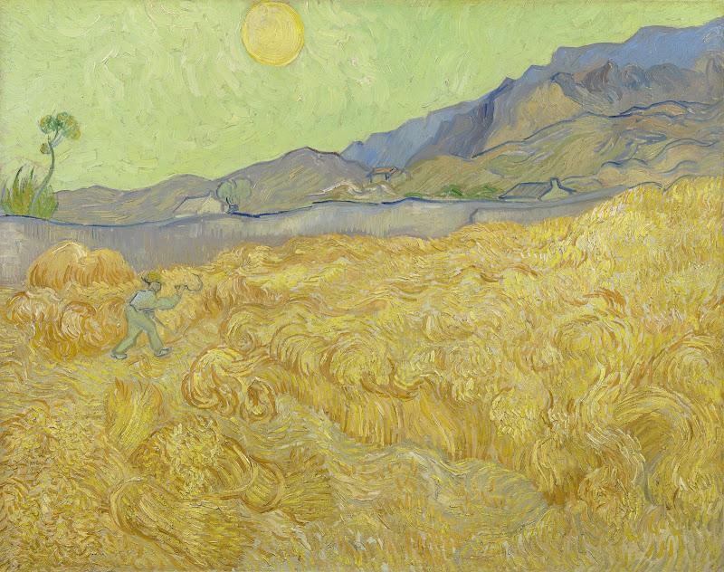 Vincent van Gogh - Wheatfield with a Reaper - Van Gogh Museum