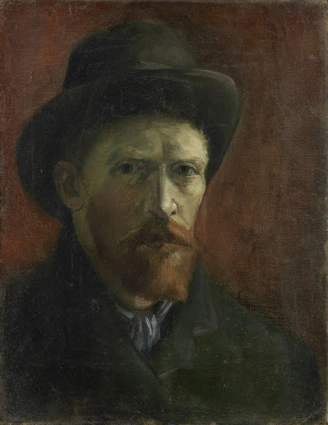 vincent van gogh zelfportret met vilthoed