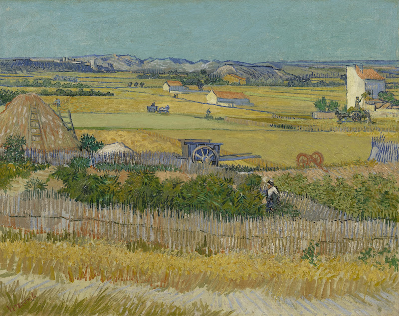 The Harvest - Van Gogh Museum for Wheat Farm Painting  76uhy
