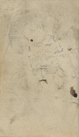 Blanco pagina met doorslag van 39 portret van een man 39 en - Een doorslag ...