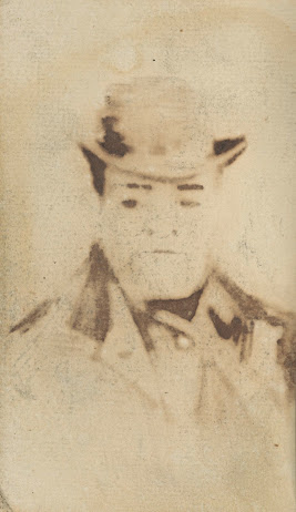 Blanco pagina met doorslag van portret van een man van - Een doorslag ...
