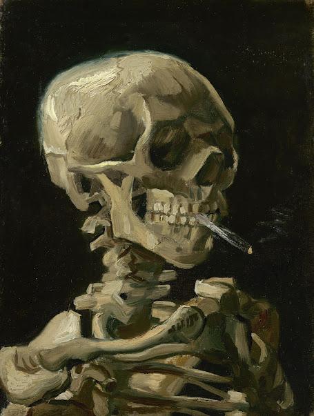 7655bd53 Vincent van Gogh - Head of a Skeleton with a Burning Cigarette - Van ...